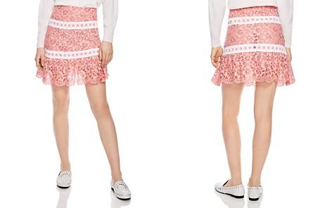 Sandro Devon Banded Floral-Lace Skirt - Bloomingdale's_2