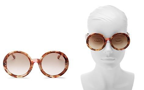 Bottega Veneta Round Sunglasses, 64mm - Bloomingdale's_2