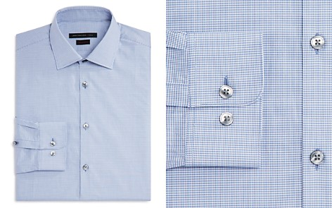 John Varvatos Star USA Micro Check Regular Fit Dress Shirt - Bloomingdale's_2