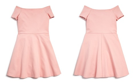 AQUA Girls' Ponte Off-the-Shoulder Skater Dress, Big Kid - 100% Exclusive - Bloomingdale's_2