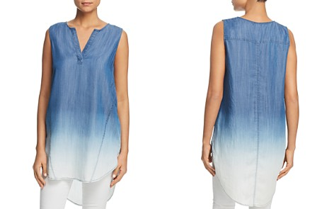 BeachLunchLounge Dip-Dyed Chambray Tunic Top - Bloomingdale's_2