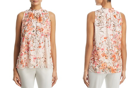 Status by Chenault Printed Floral Lace Top - 100% Exclusive - Bloomingdale's_2