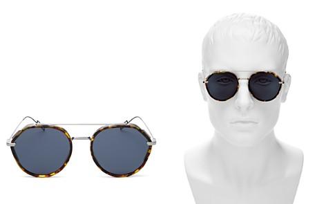 Dior Homme Vintage Brow Bar Round Sunglasses, 52mm - Bloomingdale's_2