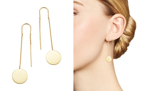 Moon & Meadow Disc Drop Threader Earrings in 14K Yellow Gold - 100% Exclusive - Bloomingdale's_2