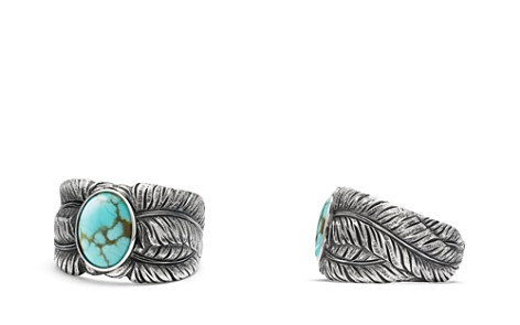 David Yurman Southwest Cigar Band Feather Ring with Turquoise - Bloomingdale's_2