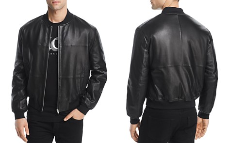 McQ Alexander McQueen Leather Bomber Jacket - Bloomingdale's_2