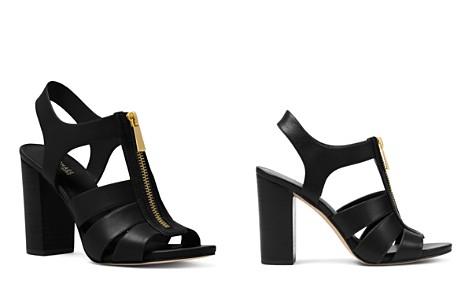 MICHAEL Michael Kors Women's Damita Leather Zip High-Heel Sandals - Bloomingdale's_2