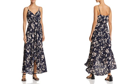 AQUA Floral Faux-Wrap Maxi Dress - 100% Exclusive - Bloomingdale's_2