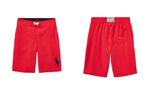 Polo Ralph Lauren Boys' Solid Big Pony Swim Trunks - Big Kid - Bloomingdale's_2