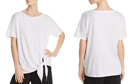 Eileen Fisher Organic Cotton Tie-Front Tee - Bloomingdale's_2