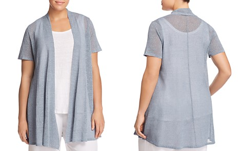 Eileen Fisher Plus Open-Front Long Cardigan - Bloomingdale's_2