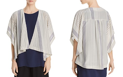 Eileen Fisher Petites Striped Silk Kimono Jacket - 100% Exclusive - Bloomingdale's_2