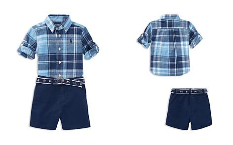 Ralph Lauren Boys' Plaid Shirt, Printed Belt & Shorts Set - Baby - Bloomingdale's_2