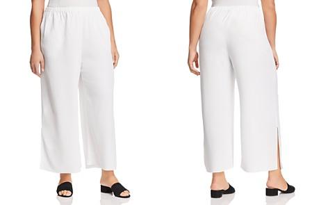 Eileen Fisher Plus Wide-Leg Ankle Pants - Bloomingdale's_2