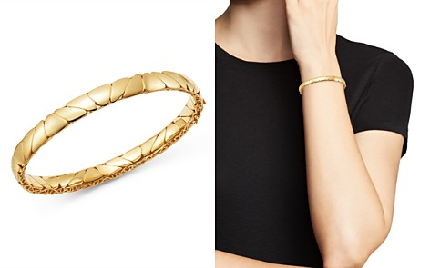 Bloomingdale's Polished Pebbled Bangle Bracelet in 14K Yellow Gold - 100% Exclusive _2