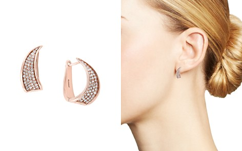 Bloomingdale's Pavé Diamond Huggie Earrings in 14K Rose Gold, 0.40 ct. t.w. - 100% Exclusive _2