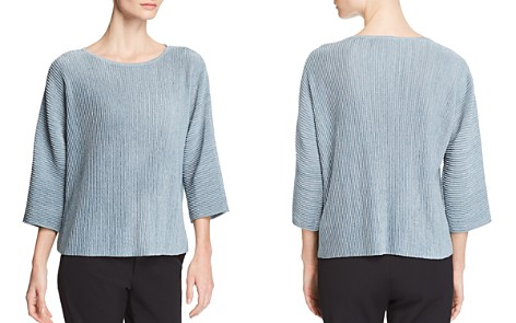 Eileen Fisher Ribbed Metallic Knit Top - Bloomingdale's_2