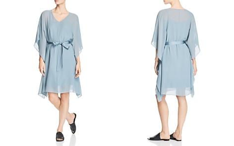 Eileen Fisher Belted Silk V-Neck Dress - Bloomingdale's_2