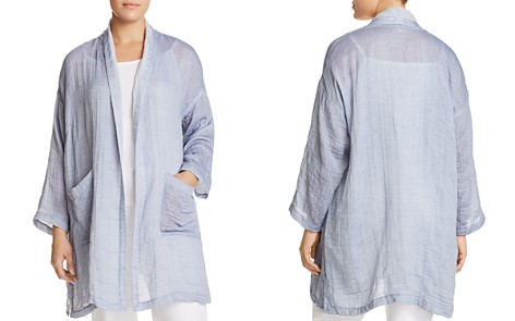 Eileen Fisher Plus Shawl Collar Kimono Coat - Bloomingdale's_2