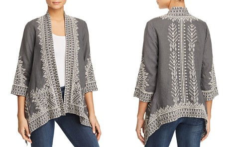 Johnny Was Cami Embroidered Linen Kimono - Bloomingdale's_2