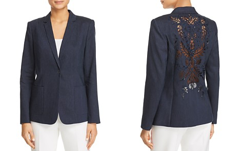Elie Tahari Wendy Embroidered Lace-Back Blazer - Bloomingdale's_2