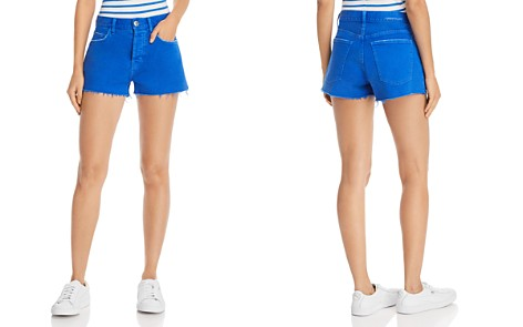 Current/Elliott The Boyfriend Raw-Edge Denim Shorts in Nautical Blue - Bloomingdale's_2