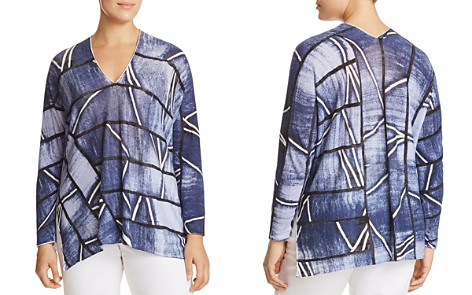 NIC+ZOE Plus High Tide Printed Top - Bloomingdale's_2