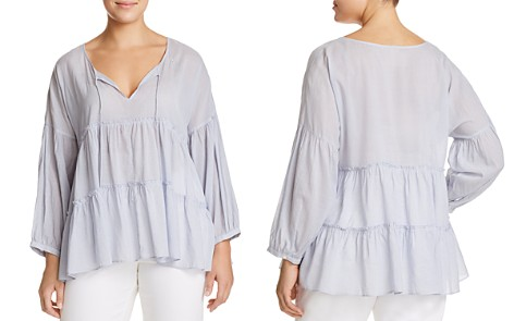 Lucky Brand Plus Tiered Peasant Top - Bloomingdale's_2