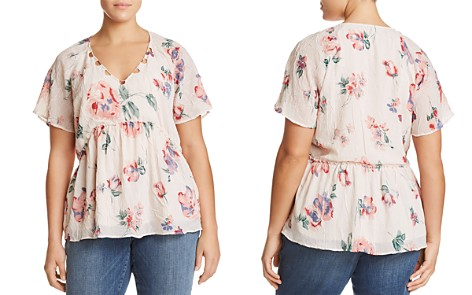 Lucky Brand Plus Floral-Print Flutter Top - Bloomingdale's_2