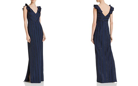 Aidan Mattox Shimmer Knit Gown - Bloomingdale's_2
