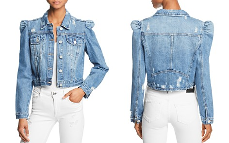BLANKNYC Puff-Sleeve Cropped Denim Jacket - Bloomingdale's_2