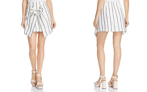 C/MEO Collective Diffuse Striped Tie-Front Mini Skirt - Bloomingdale's_2