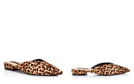 AQUA Women's Leopard Print Calf Hair Mules - 100% Exclusive - Bloomingdale's_2