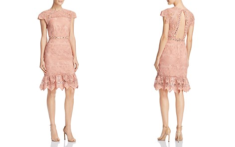 Saylor Zigzag Lace Dress - Bloomingdale's_2