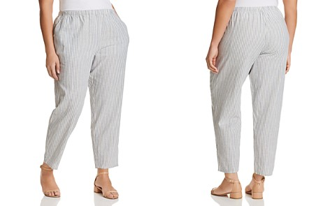 Eileen Fisher Plus Striped Cropped Pants - Bloomingdale's_2