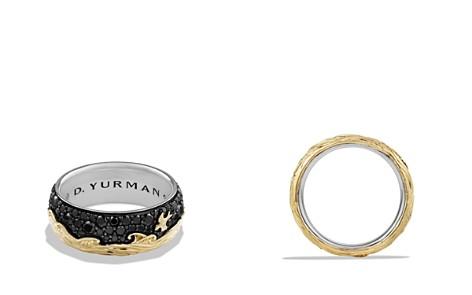 David Yurman Waves Band Ring with 18K Gold & Black Diamonds - Bloomingdale's_2