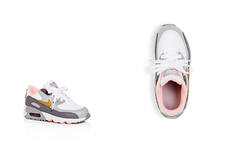 Nike Girls' Air Max 90 Color-Block Leather Lace Up Sneakers - Toddler, Little Kid - Bloomingdale's_2