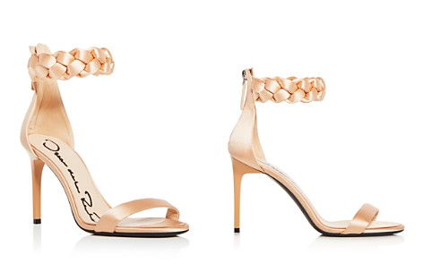 Oscar de la Renta Women's Brigit Braided Satin Ankle Strap High-Heel Sandals - Bloomingdale's_2