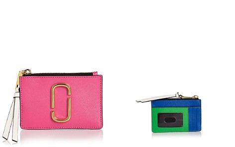 MARC JACOBS Top Zip Leather Multi Card Case - Bloomingdale's_2