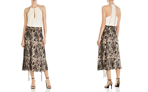 Haute Hippie Solo Printed Lace-Up Silk Midi Skirt - Bloomingdale's_2
