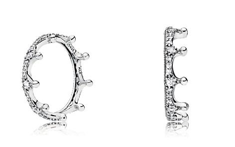 PANDORA Sterling Silver & Cubic Zirconia Enchanted Crown Ring - Bloomingdale's_2