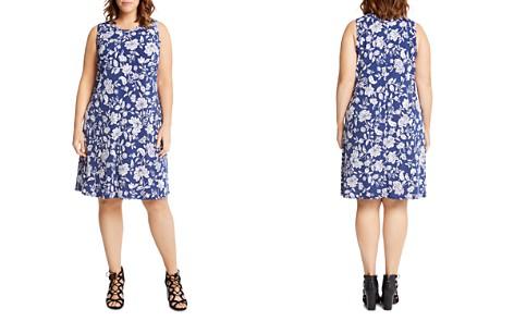 Karen Kane Plus Woodblock Floral-Print Shift Dress - Bloomingdale's_2