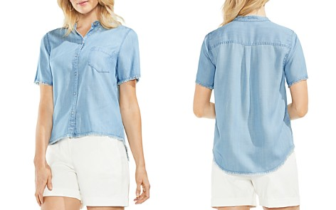 VINCE CAMUTO Frayed Chambray Top - Bloomingdale's_2