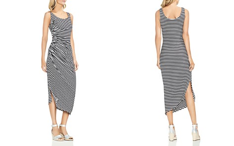 VINCE CAMUTO Ruched Stripe Midi Dress - Bloomingdale's_2