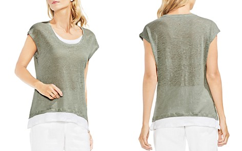 VINCE CAMUTO Linen Layered-Look Tee - Bloomingdale's_2