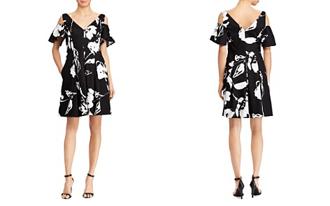 Lauren Ralph Lauren Floral Sateen Cold-Shoulder Dress - Bloomingdale's_2