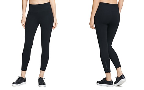 Donna Karan New York Zip-Vent Ankle Leggings - Bloomingdale's_2