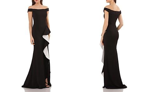 Carmen Marc Valvo Off-the-Shoulder Gown - Bloomingdale's_2