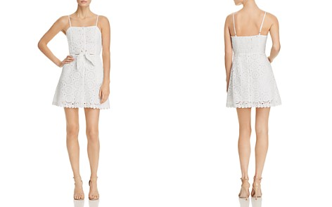 Lost + Wander Bianca Tie-Front Lace Mini Dress - Bloomingdale's_2
