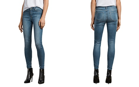 ALLSAINTS Grace Skinny Jeans in Fresh Blue - Bloomingdale's_2